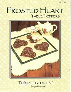 Thimbleberries - Frosted Heart Table Toppers - Lynette Jensen - Pattern Booklet