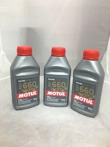 Motul RBF 660 Factory Line DOT 4 Racing Brake Fluid Synthetic CAR AND BIKE 3PACK