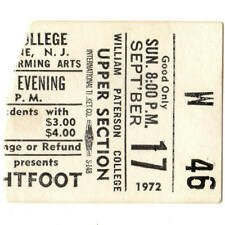 GORDON LIGHTFOOT Concert Ticket Stub WAYNE NJ 9/17/72 IF YOU COULD READ MY MIND