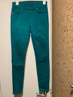 Seven 7 For All Mankind Womens sz 27/30 Emerald Green The Skinny  Denim Jeans