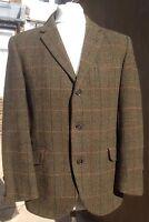 """DAKS Rare Vintage 1930s Simpson Tailored Herringbone Tweed Jacket 38"""" Goodwood"""