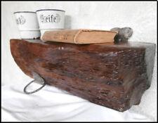 UNIKAT Antikholz Balkenregal Wandregal Ablage Eiche mit Antikeisen 46cm (9/8