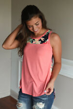 Fashion Womens Sleeveless Floral Vest T-shirt Ladies Summer Tank Tops Blouse Pink UK Size 14