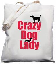 Crazy Dog Lady-naturale (crema) Cotone Borsa A Tracolla