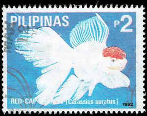 Scott # 2181d - 1992 - ' Freshwater Aquarium Fish - Red Cap
