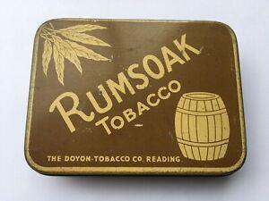 C1930s VINTAGE THE DOYON TOBACCO Co READING RUMSOAK TOBACCO 2 oz TIN