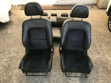 Subaru Outback Liberty 4TH GEN H6 Black Leather Suede Seats Chairs Wagon Set