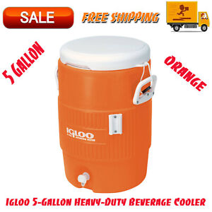Igloo 5-Gallon Heavy-Duty Beverage Cooler- Orange, Food And Beverage Preparation