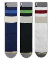 Merge 4 Haven 3 Pack Classic Crew Sock M41112 Maroon Green Blue  *New*