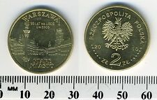 Poland 2010 - 2 Zlote Brass Collectible Coin - City of Warsaw