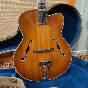 Vintage 1956 Levin Model 2 Solist Archtop Guitar w/ OHSC 1950s Sweden Sunburst