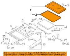 VW VOLKSWAGEN OEM 11-16 Jetta-Sunroof Moonroof Glass 5C6877071A