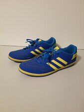 Adidas Mens 11 Blue Yellow Freefootball Brazil Indoor Soccer Shoes Cut Out Desig
