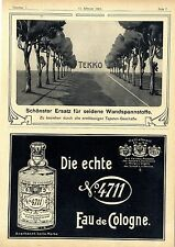 4711 echte Eau de Cologne Köln Tekko Wandspannstoffe Tapete Assim Cigaretten1904