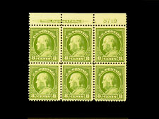 """414 FRANKLIN 8 cent MNH Plate Block with an """"A"""" and Imprint  CV$800 Very Nice"""