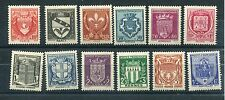 FRANCE 1941 WELFARE COATS of ARMS MNH Set 12 Stamps