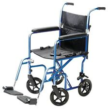 "19"" Transport Chair Classic Portable Mobility Medical A336-77 Carex Wheelchair"