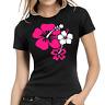 Hibiscus Flowers Hibiskus Blumen Retro Kult Women Lady Damen Girlie T-Shirt