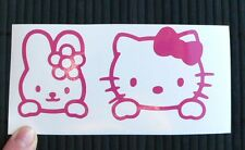 Adesivo Hello Kitty con coniglio rabbit auto moto scooter sticker decal vinile