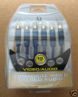 12Ft Acoustic Research® High Performance 3RCA Composite A/V Cable