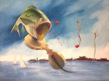 HEI FENG      ORIGINAL OIL PAINTINGS      SINGING FISH