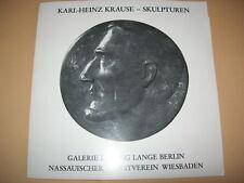 Karl-Heinz Krause - Werkverzeichnis Skulpturen 1952-79 - Katalog von 1979