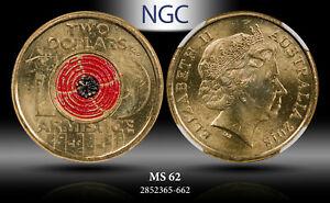 2018 M AUSTRALIA $2 REMEMBRANCE DAY NGC MS62 !!