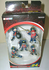 Jeff Gordon #24 DuPont Collectible Mini Ornament Pit Crew Set 2008 Trevco NASCAR