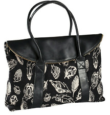 New Pendleton Feather Storm Collection Wool & Leather Oversized Travel Tote Bag