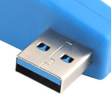 90 Degree Vertical Left Angled USB 3.0 Male to Female M/F Adapter Connector BE