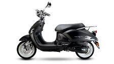 Venezia schwarz matt 50CCM 45Km/h Retro Motorroller Scooter Roller Mofa Burnout