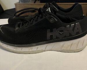 Hoka Mens Cavu Size 14 Black Lightweight Athletic Running Shoes
