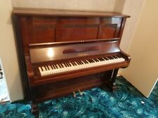More details for piano - quality heavy duty on casters euterpe 5 (5256) upright piano. 3 black...