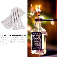50PCS 14cm Long 5mm Diameter Round Cotton Kerosene Oil Alcohol Lamp Wicks Burner