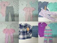 Brand New with Tag Carter's Baby Girl 3 Piece Set Lot 9m - 2T T-Shirts Pants