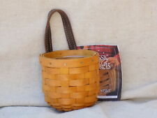 New Listing Extra Small GateHouse Wall Hanging Basket w/ Protector 2002 Longaberger