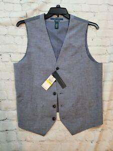 Perry Ellis medium dapper grey vest NWT