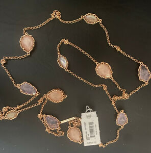 New Kendra Scott Gwenyth Long Strand Necklace, Blush Mix $158.00