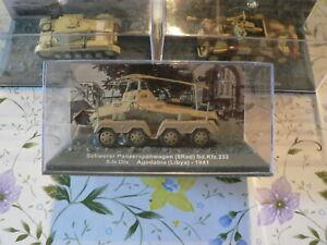 lot de 7 chars et véhicules militaires,collection panzer,39/45,altaya,en 1/72