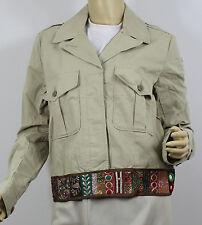 Ralph Lauren Denim and Supply Jacket Womens Medium Khaki Button Front New