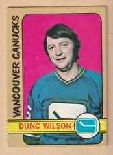 HOCKEY CARD NHL 1972-73  DUNC WILSON  VANCOUVER CANUCKS  OPC  #18
