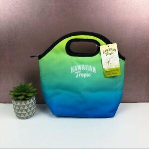 Hawaiian Tropic Blue Green Black Hand Held Cooler Bag New With Tag