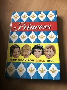 Princess Gift Book For Girls Annual 1963 .. Very Good Condition..Not Clipped