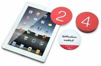 2 SET LOT NOTIFICATION STICKY PAD PHONE IPAD NOTEBOOK TABLET COMPUTER NUMBER 1-9