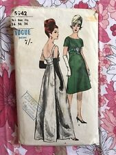 VOGUE 5942 sewing pattern COMPLETE vintage Retro Evening Dress 1960s