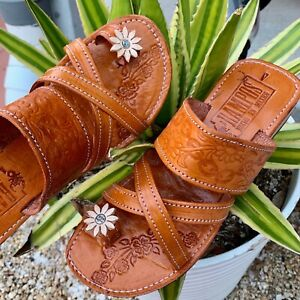 Womens Mexican Handmade Leather HUARACHES Sandals Sandalia Mujer MEXICO D cruz