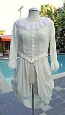 Steampunk Victorian Light Sheer Draped Top by Candela NYC SZ L