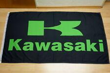 Fahne Flagge Kawasaki Schwarz - 90 x 150 cm