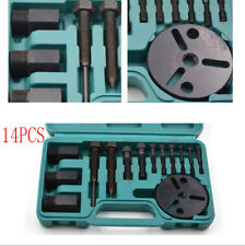 Car Autos Air Compressor Clutch Rebuild Removal Tool Kit AC Clutch Puller 14PCS