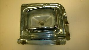 1956 Chevrolet Car Left Front Park & Turn Signal Housing and Backup Plate